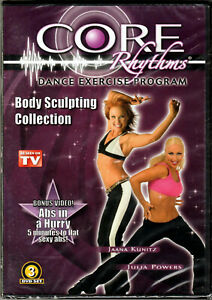 CORE Rhythms DANCE EXERCISE Program 3 DVD Body SCULPTING Collection WEIGHT LOSS!