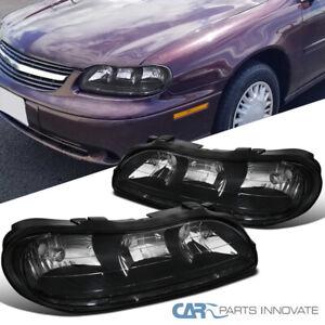 For Chevy 97-03 Malibu 04-05 Classic 97-99 Oldsmobile Cutlass Black Headlights