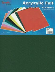 CLEARANCE 10 A4 Sheets of Green Felt New