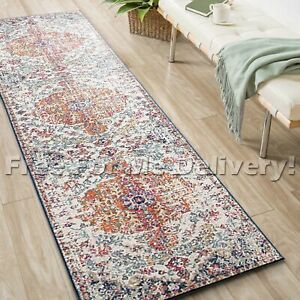 SULIS FLORAL COLOURFUL TRADITIONAL RUG RUNNER (M) 80x300cm **FREE DELIVERY**