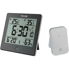 Taylor Wireless Indoor Outdoor Weather Station F C Temperature Hygrometer