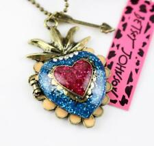 Jewelry Betsey Johnson Pendant enamel Rhinestones Chain Heart Color necklace Hot
