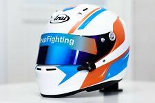 Stickers for helmet (design pack) (Karting, Motorsport) Sport Orange-Blue