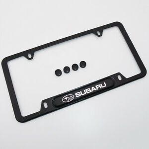 For Subaru Brand New License Frame Plate Cover Stainless Steel - Black