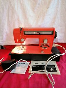 VICTORIA Nähmaschine Modell 4000 funktioniert orange  Bedienungsanleitung Metall