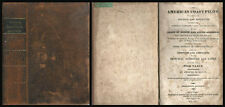 1827 AMERICAN COAST PILOT Leather Blunt Harbor Sounds Charts Maps