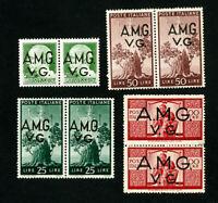 Venezia Giulia Stamps # 1L10-13 VF OG NH Set of 4 Pairs Scott Value $94.50