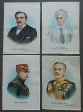 More details for complete set of great war leaders set e anon silks issued 1916 150mm x 110mm