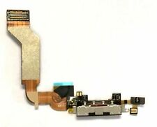 iPHONE 4S DOCK PORT CONNECTOR CHARGING PORT FLEX CABLE REPLACEMENT BLACK