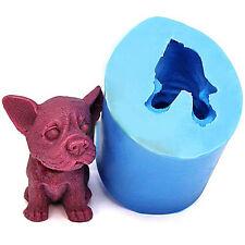 3D Puppy Dog Silicone Fondant Mould Chocolate Sugarcraft Cake Mold Baking DIY