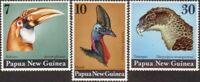 Papua New Guinea 1974 SG270-272 Large Birds Heads set MNH