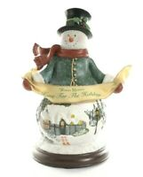 Thomas Kinkade Home for the Holidays Illuminated Snowman First Issue Collection