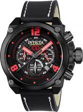Invicta Men's 50mm Corduba Brink Quartz Chronograph Carbon Fiber Leather,NEW