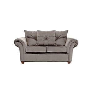 Wayfair Lila 2 Seater RRP £779. Taupe Grey/Beige Plush Velvet Scatter-Back Sofa
