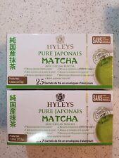 2 Boxes HYLEYS Pure Japonais Matcha With Ceylon Sencha 25 Tea Bags