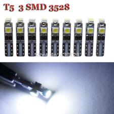 10PZ LAMPADE T5 LED 3528 SMD 3 LED CANBUS PER QUADRO STRUMENTI CRUSCOTTO BIANCO