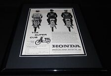 1961 Honda Super Cub 11x14 Framed ORIGINAL Vintage Advertisement
