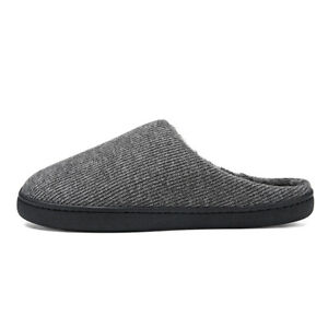 Men's Slippers Pure Cotton Closed Flat Bottom Solid Color Winter Warmth Comfort