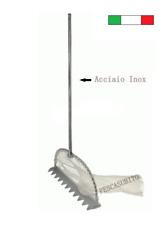 Tellinaro Professionale Completo in Acciaio Inox 1.40Mt Rastrello Telline Pesca