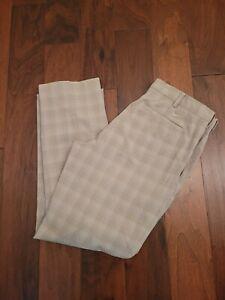 Nike Golf Dri-Fit Plaid Golf Pants, Men's Size 36x32 - NICE !!!