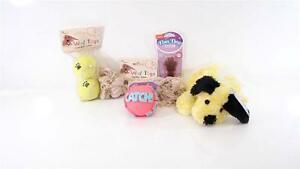 LOT 6 DOG CAT CHEW PLAY TOY PUPPY HARTZ ROPE BALL PAWS PREMIUM DENTAL DUO CATCH