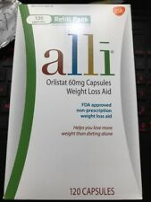 alli Weight Loss Aid Orlistat 60 mg,Refill Pack 120caps/box EXP01/2022