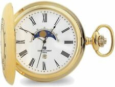 Charles Hubert Gold-Finition Fenêtre ouverte Moon Phase pocket watch