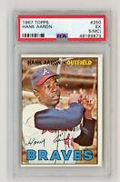 Hank Aaron,1967 Topps Baseball Card #250 EX PSA 5 Atlanta Braves MLB