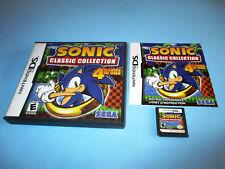 Sonic Classic Collection Nintendo DS Lite DSi XL 3DS 2DS w/Case & Manual