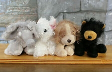 Ganz Webkinz Lot of 4 Bear Elephant Cocker Spaniel Dog Terrier Plush - NO Codes