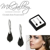925 Sterling Silver Earrings 15mm Teardrop Drop Crystals from Swarovski®
