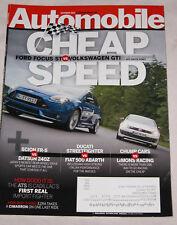 Automobile Magazine Oct 2012, Ford Focus ST vs. Volkswagen GTI Mercedes Benz GL