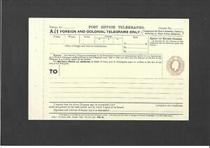 GB Stationery KEVII 10d brown Foreign & Colonial Telegraph Form size b H&B TP59c