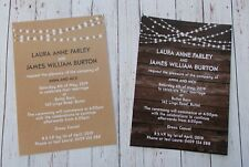 Sample Budget Rustic/Vintage Invitation with Envelopes