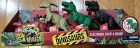 4 Dinosaurs Electronic Light & Sound Figures (NEW)