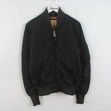 Mens Alpha Industries MA-1 Pilot Military Bomber Jacket In Black Size Small S