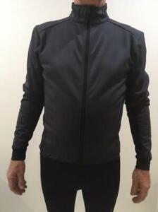 Cycling Bike Fleeced Winter Windproof Reflector Jacket Unisex  (L) Black or Grey