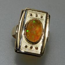 Sehr schöner alter 333er Gold Ring mit Kristall Edelopal - V1655
