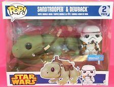 Funko POP Star Wars Sandtrooper Dewback Walmart Exclusive 2 Figure Box Defects