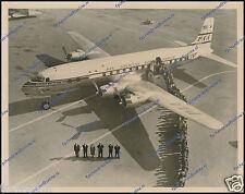 "DOUGLAS DC-6B N6518C, PAN AMERICAN STAMPED SHARP & ORIGINAL PERIOD PHOTO 8""x10"""