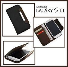 Zubehör für Samsung Galaxy S3 i9300 Book-STyle Tasche + Folie Schwarz/Braun