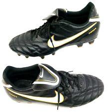 Nike Tiempo Soccer Cleats Mens Size 12 Black Gold White VGUC