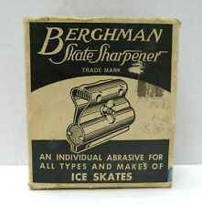 Vintage Berghman Skate Sharpener in Original Box Maywood Il