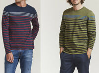 FAT FACE Mens Crew Round Neck Cotton Striped Sweatshirt Jumper T shirt Top Tee