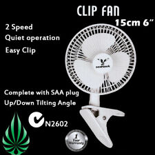 [2x] Seahawk 2 Speed 150mm Quiet Clip Fan Student Desk Clamp C-Tick AU Safety