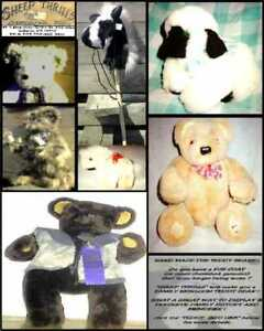 TEDDY BEAR MADE 4 YOU FROM YOUR OLD FUR COAT OR GARMENT