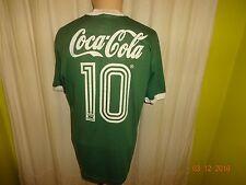 """Palmeiras São Paulo adidas matchworn camiseta 1989/90 """"coca cola"""" + nº 10 talla L"""