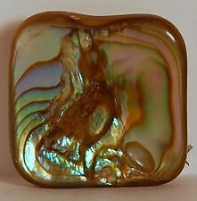 VINT ABALONE SQUARE BROOCH RADIANT