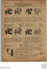 1913 PAPER AD Stromberg Carburetor Type A B C G Exhaust Manifold