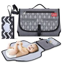 New Baby Diaper Changing Pad Portable Travel With Pillow & Wipes Pouch Boy Girl